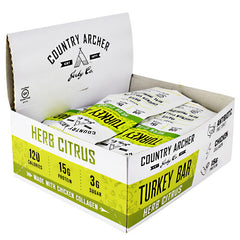 Country Archer Turkey Bar with Collagen - Herb Citrus - 12 Bars - 854837006069