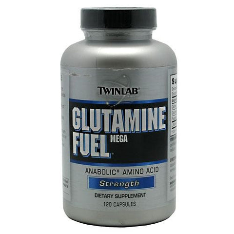 TwinLab Strength Mega Glutamine Fuel - 120 Capsules - 027434009935