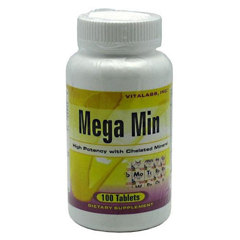 Vitalabs Mega Min - 100 Tablets - 092617015225