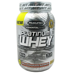 MuscleTech Essential Series 100% Platinum Whey - Milk Chocolate Supreme - 2 lb - 631656705010
