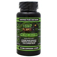 Hemp Bombs CBD Capsules - 375 mg - 758763247346