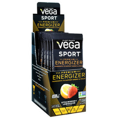 Vega Sport Premium Energizer - Strawberry Lemonade - 12 ea - 838766007380