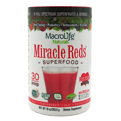 Macro Life Naturals Miracle Reds Antioxidant Superfood Supplement - 10 oz - 852434001036