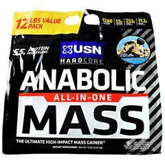 Usn Hardcore Anabolic Mass - Cookies & Cream - 12 lb - 6009544909620