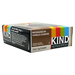 Kind Snacks Kind Nuts & Spices - Madagascar Vanilla Almond - 12 Bars - 602652177507