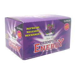 Kiosk Kings Champion Energy - Royal Grape - 12 Bottles - 793573921062