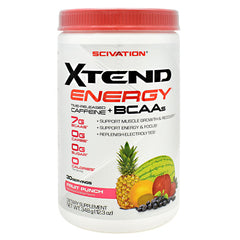 Scivation Xtend Energy - Fruit Punch - 30 Servings - 842595107487