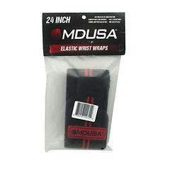 Muscle Driver MDUSA Elastic Wrist Wraps - BLK/RED 24 - 1 ea - 889258000709