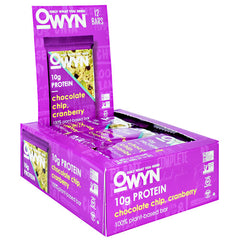 Only What You Need OWYN Bar - Chocolate Chip Cranberry - 12 Bars - 857335004926