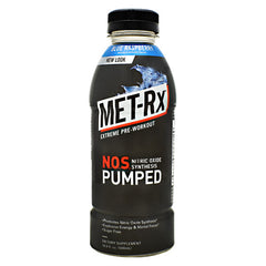 Met-Rx USA N.O.S. PUMPED - Blue Raspberry - 12 Bottles - 10786560579299