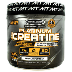 Muscletech Essential Series Platinum 100%Creatine - Unflavored - 80 Servings - 631656705737