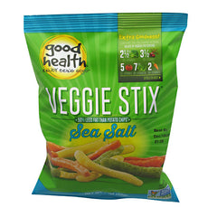 Good Health Natural Foods Veggie Stix - Sea Salt - 24 ea - 10755355005053