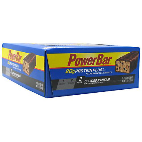 Powerbar Protein Plus - Cookies N Cream - 15 Bars - 097421866353