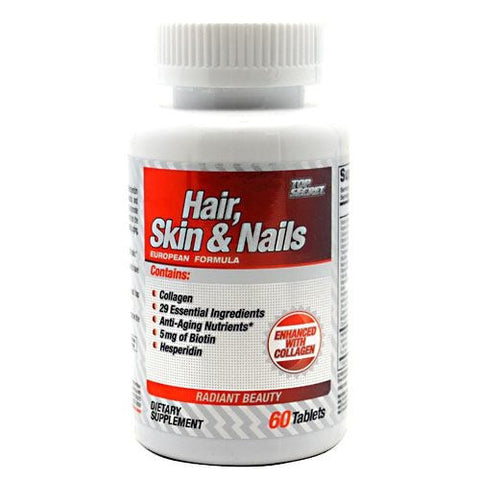 Top Secret Nutrition Hair, Skin & Nails - 60 Caplets - 858311002097