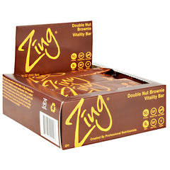 Zing Vitality Bar - Double Nut Brownie - 12 Bars - 855531002197