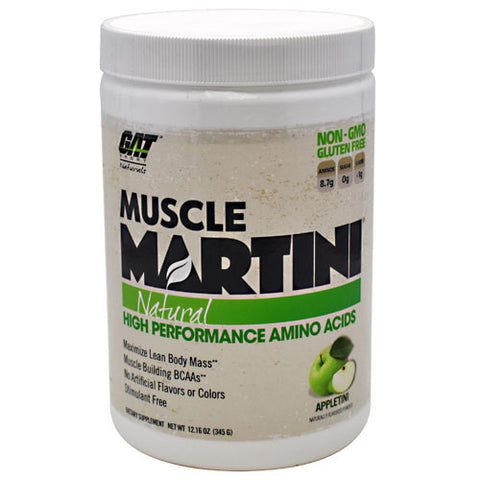 GAT Natural Muscle Martini - Appletini - 30 Servings - 859613000101