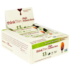 Think Products Plant Based High Protein Bar - Sea Salt Almond Chocolate - 10 Bars - 753656714226