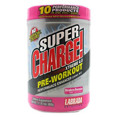 Labrada Nutrition Super Charge Xtreme 4.0 - Strawberry Dreamsicle - 1.76 lb - 710779444928