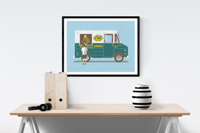 Refreshingly Summer Art Print