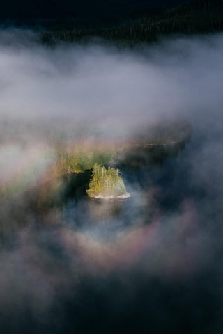 FRAMED BY A FOGBOW