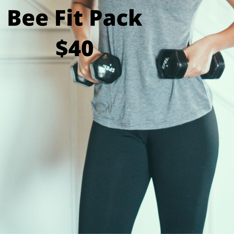 Racer Back Bee Fit Black Sports Bra