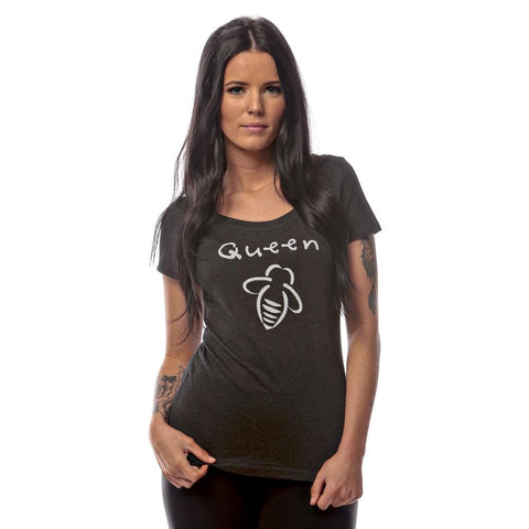 Queen Bee Beach Hoodie Black