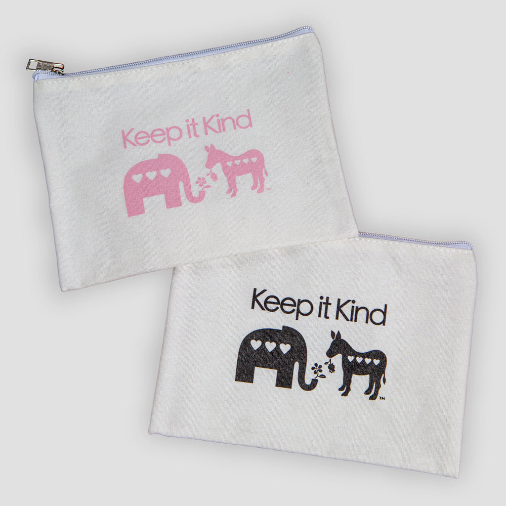 Keep It Kind Canvas Zip Pouch