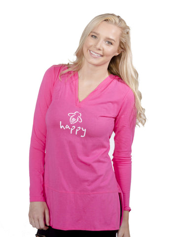Bee Happy Hoodie Tunic Watermelon