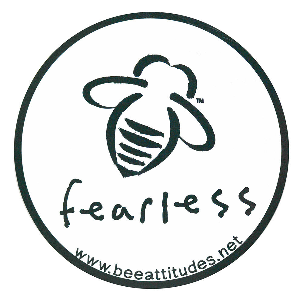 BeeAttitudes Bee Fearless White/Black Magnet