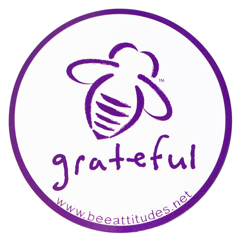 BeeAttitudes Bee Grateful White/Vintage Purple Magnet