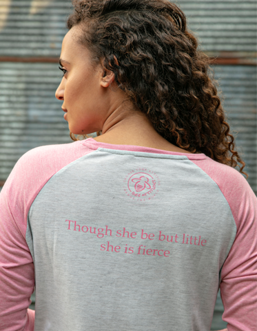 Fierce Raglan  - Heather Pink - BeeAttitudes