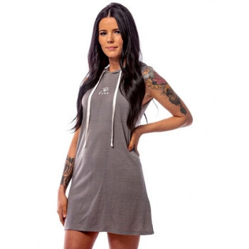 Bee free Hoodie Dress Gray - BeeAttitudes