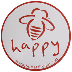 BeeAttitudes Bee Happy White/Red Magnet