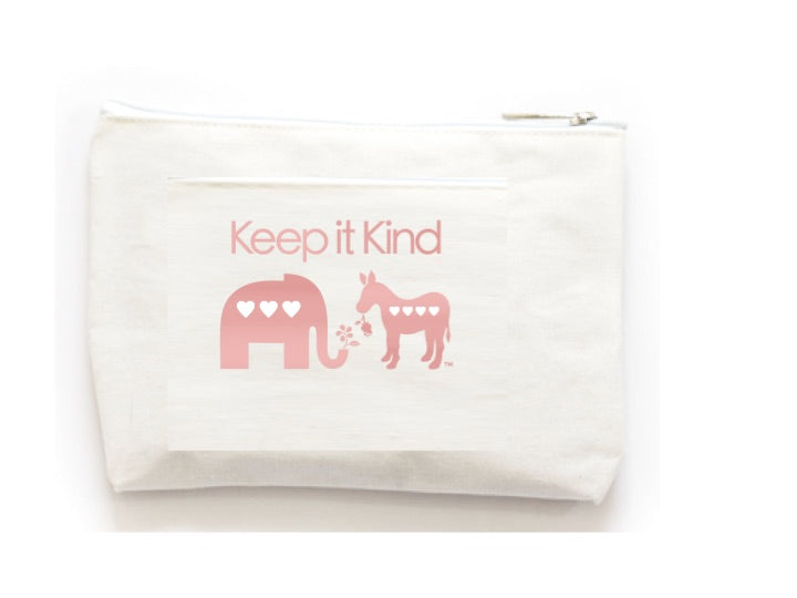 Wholesale Keep It Kind Canvas Zip Pouch - BeeAttitudes