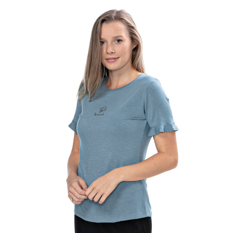 Bee Kind Short Ruffle Sleeve Tee - BeeAttitudes