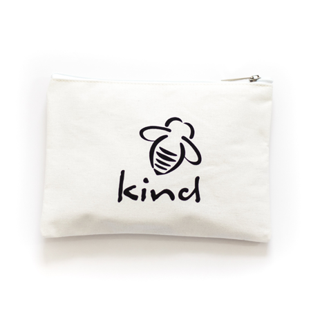 Canvas Zip Pouch - Let it Bee