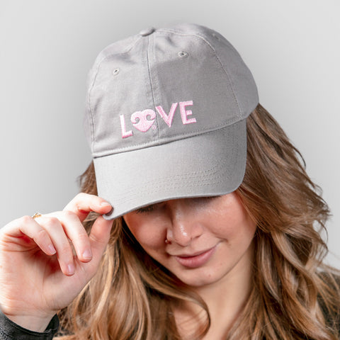 Puppy Love Baseball Cap - Light Gray - BeeAttitudes