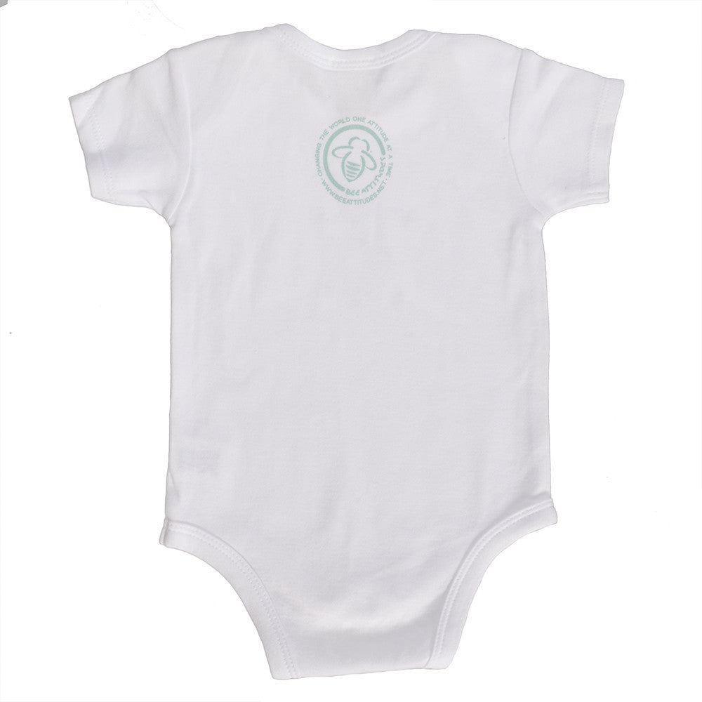 New Bee Onesie  - White/Green - 0/3 Months - BeeAttitudes