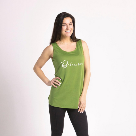 Bee Free Kale Green A-Line Dress