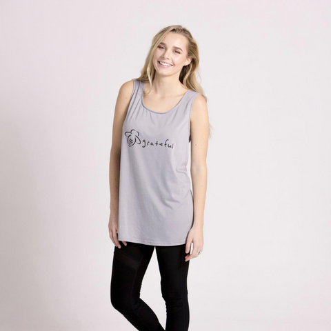 Keep It Kind Slim Heather Pink V-Neck