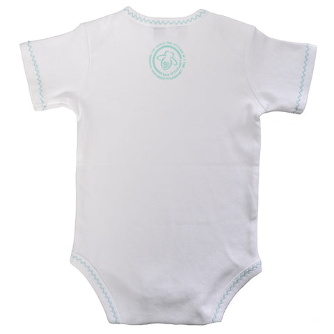 Honey Bee Onesie White/Baby Blue