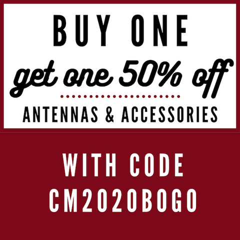 Buy One Get One 50% Off Antennas and Accessories | Right Channel Radios