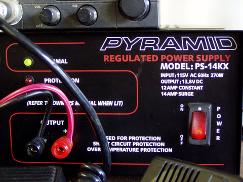 12-Amp Power Supply Front View (closer shot)