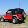 1987-2006 Jeep CB Radio Kit Installed
