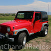 1987-2006 Jeep CB Radio Kit Installed - Front View