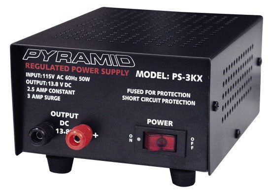 2.5-Amp Power Supply Front View
