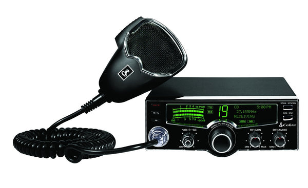 Cobra 25 LX Front View with Microphone