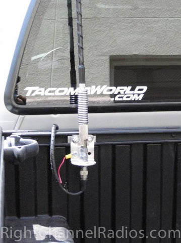 Firestik 3-Way Mount Installed on Truck Bed Rail