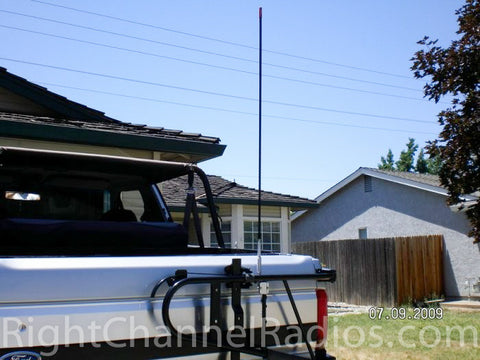 Firestik 3-Way Mount Installed on Horizontal Bar