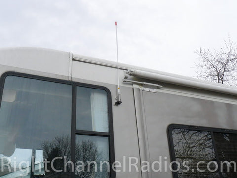 Firestik 3-Way Antenna Mount Installed on Motorhome